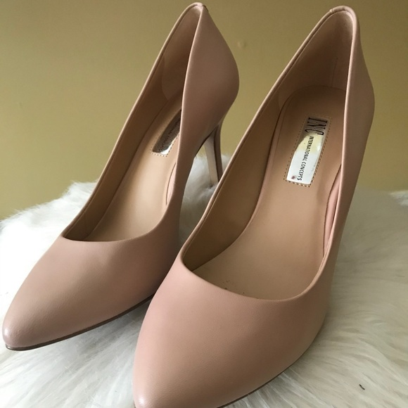 Inc Pink Bloom Leather Pumps